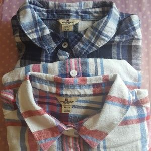 Woolrich Plaid flannel shirts Set of 2 Size XL